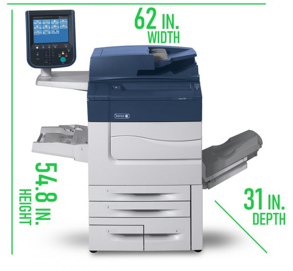 Xerox C60 Lease Dimensions