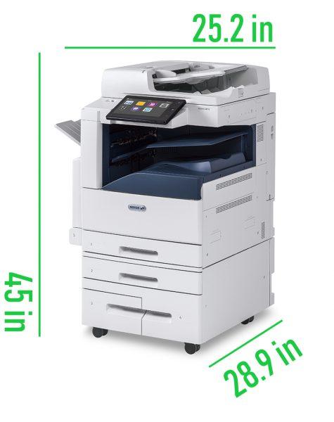 Dimensions of Xerox Altalink C8030 Lease Online