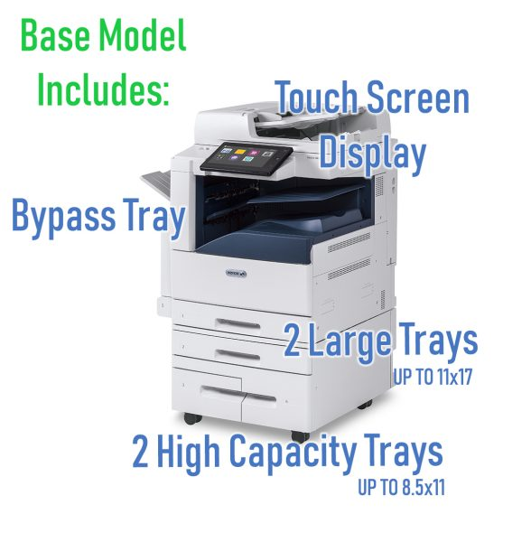 Included Accessories of Xerox Altalink C8030 Lease Online