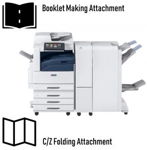 Xerox Altalink C8035 with Booklet Maker and CZ folding attachment