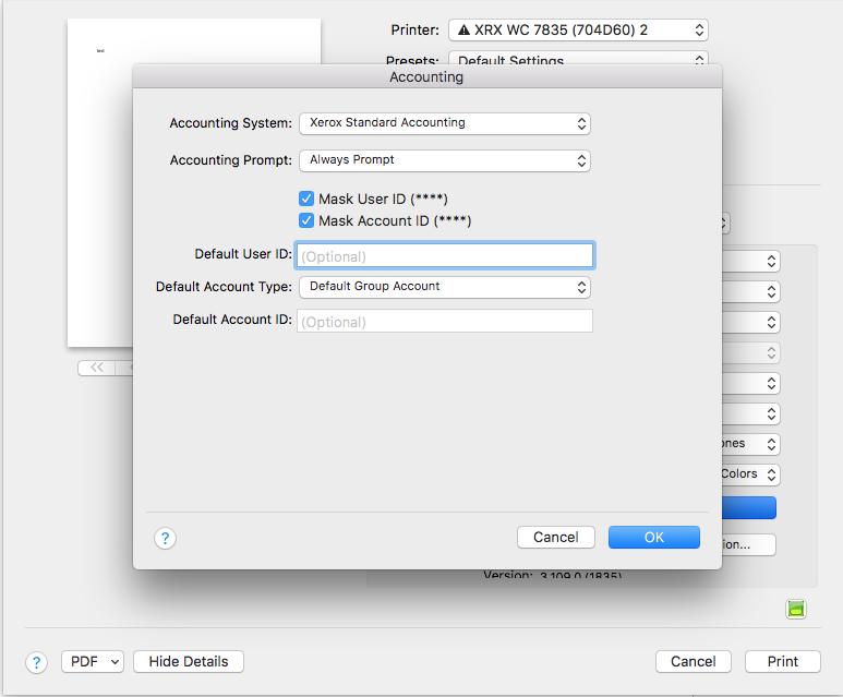 Xerox Standard Accounting Setup on a MAC | USA Copier Lease