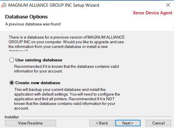 Database option | USA Copier Lease