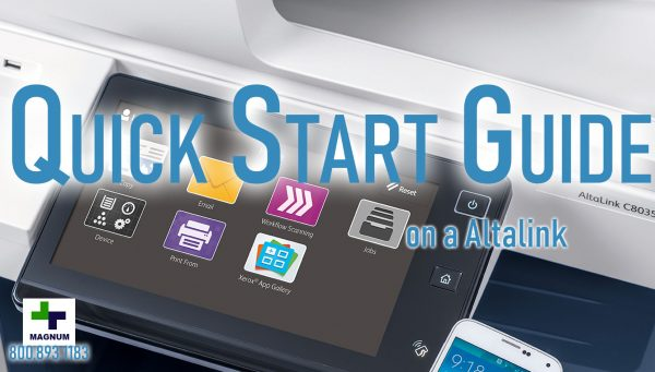 Xerox Altalink Quick Start Guide