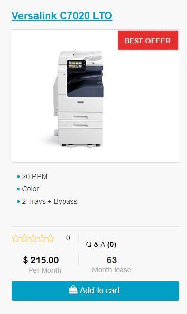 Xerox Versalink C7020 Lease To Own