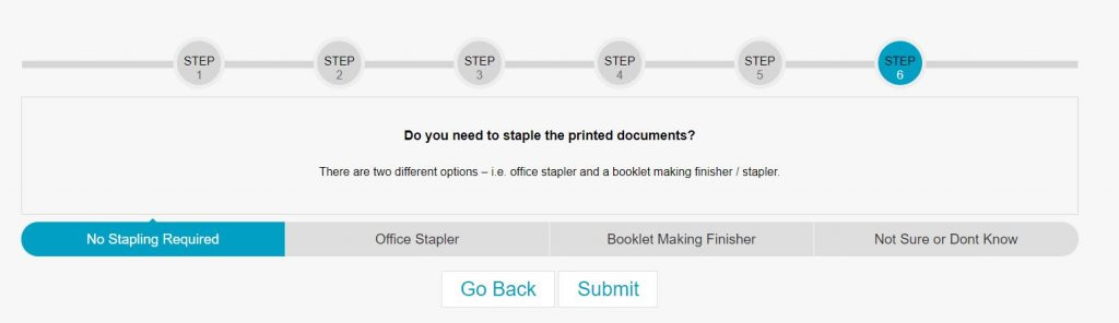 Help Select tool for leasing a copier - finisher requirements