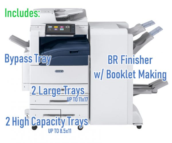 Altalink C8045 BR FInisher Booklet Making includes these options from USA copier Lease