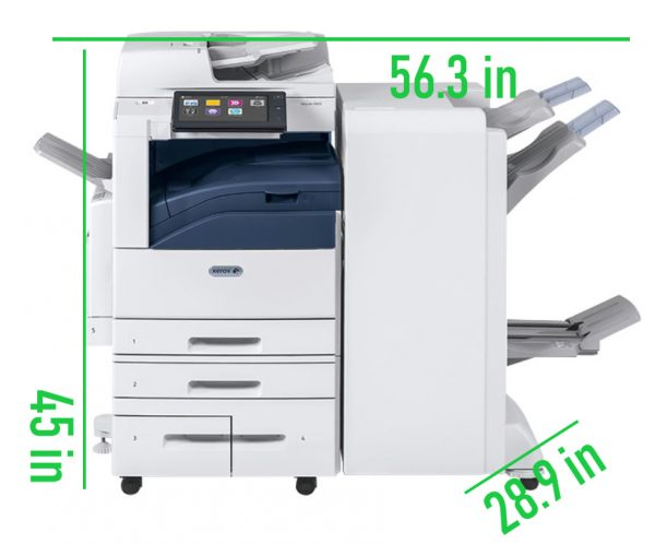 Altalink C8045 Dimensions from USA Copier Lease