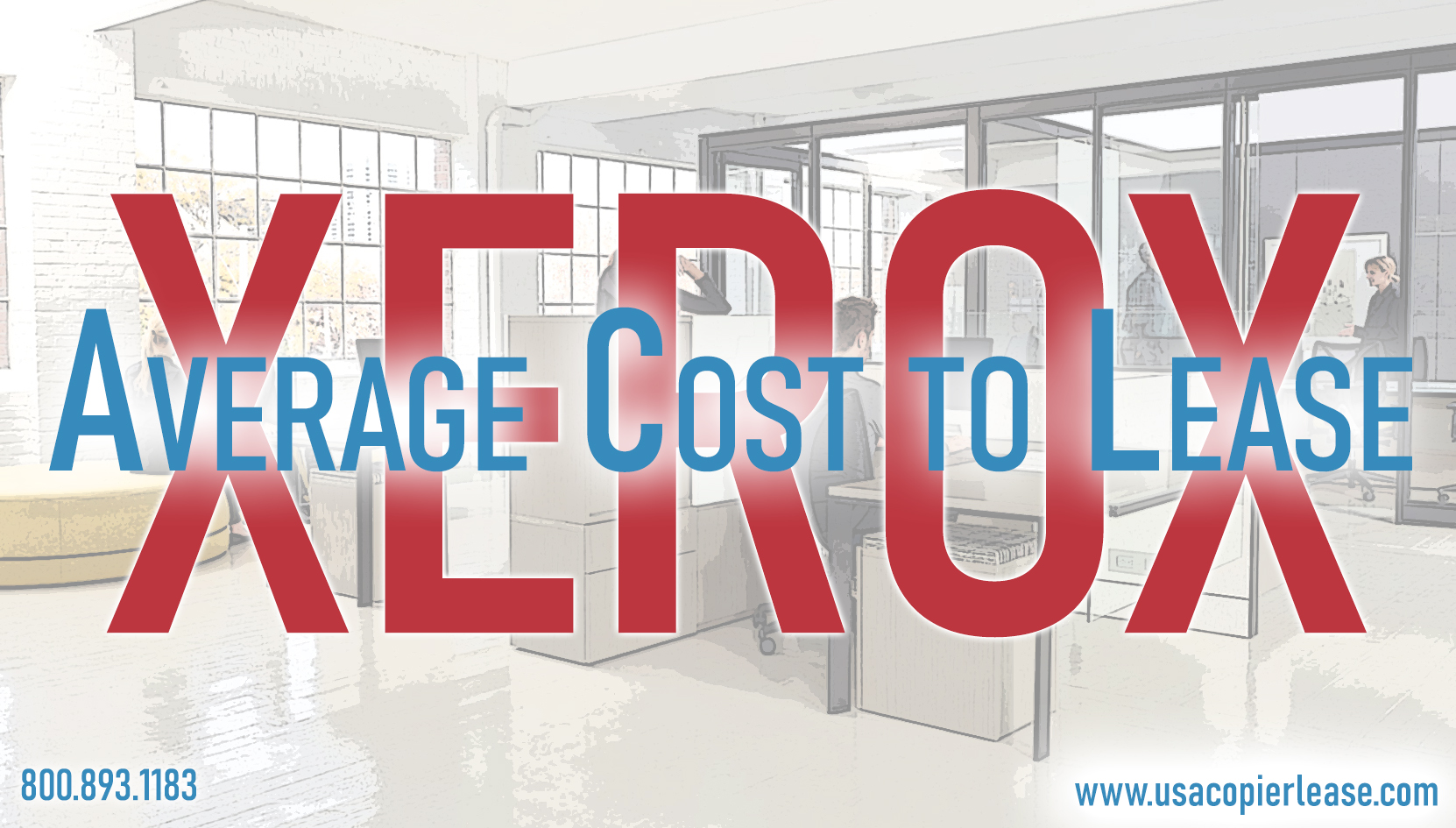 What is the average cost to lease a copier?