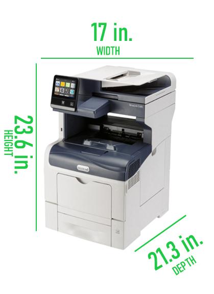 Xerox Versalink C405 Dimensions Picture